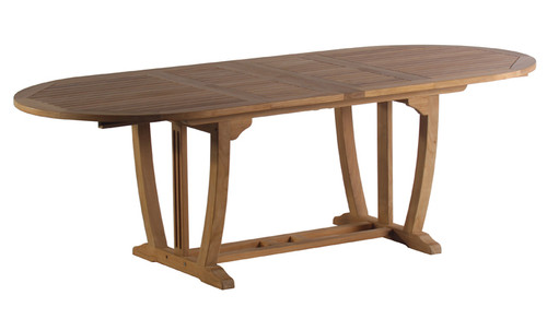 """AquaMAJESTIC 94.5"""" Oval Double Extension Table"""
