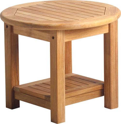 "AquaSOLSTICE™ 21"" Round Side Table w/Shelf"