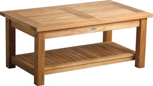 "AquaSOLSTICE™ 41"" x 24""  Rectangular Coffee Table w/Shelf"