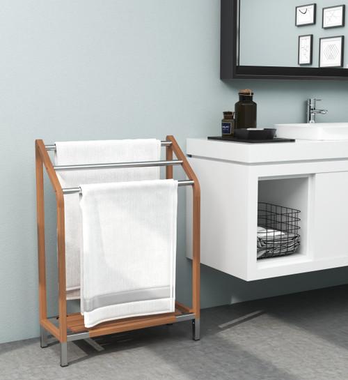 The Original Sula™ Versatile Teak & Stainless Towel Rack