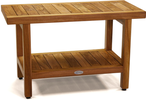 "The Original 30"" Spa™ Teak Shower Bench with Shelf"