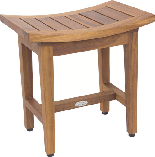 "8"" Maluku Lotus Teak Shower Bench"