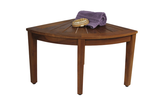 "22"" Wide Kai™ Corner Teak Side Table"
