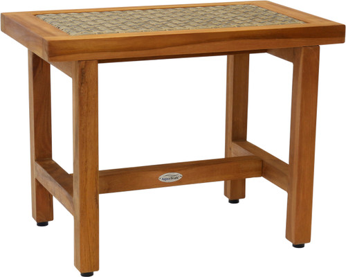 "24"" Spa™ Lotus Fusion Teak Shower Bench (Natural Weave)"