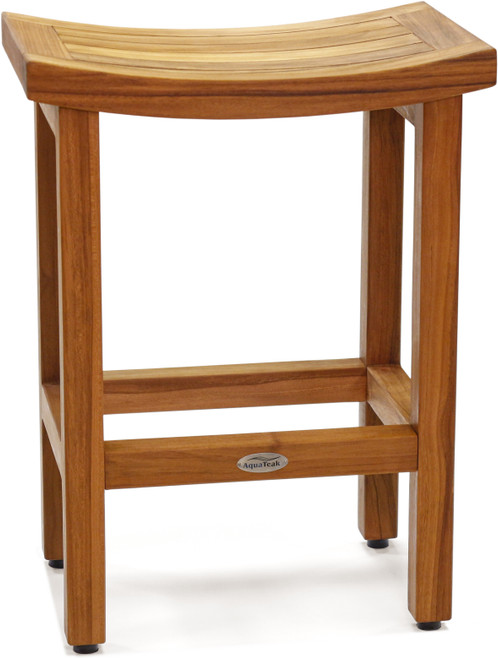 "Patented 24"" Tall Sumba™ Teak Counter Stool"
