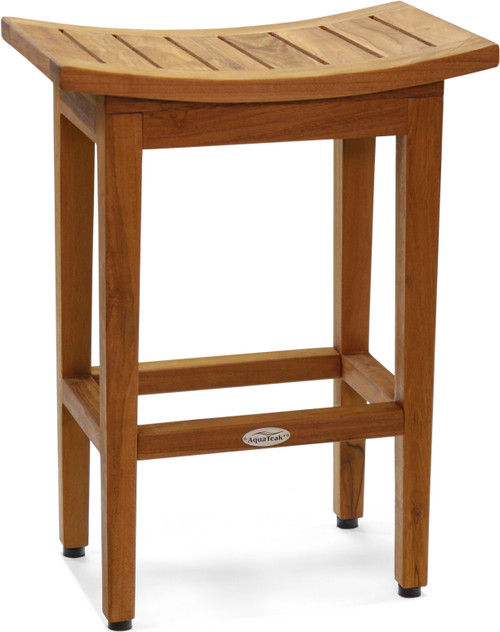 "The Original 24"" Tall Maluku™ Teak Counter Stool"