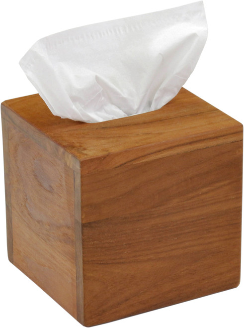 Manada™ Square Teak Tissue Box