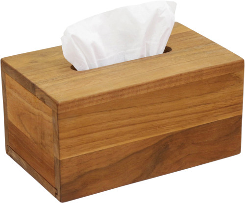 Manada™ Rectangular Teak Tissue Box
