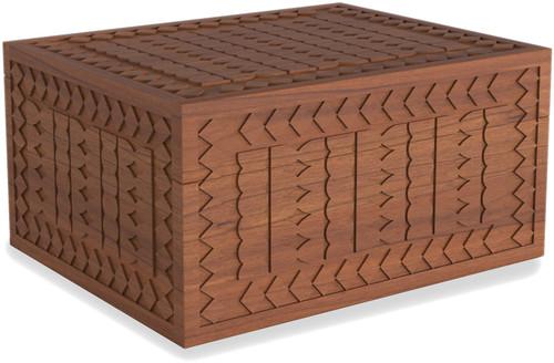 Manada™ Large Carved Teak Storage Box
