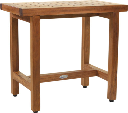 "24"" Spa™ Lotus Teak Shower Bench with Elevated Height"