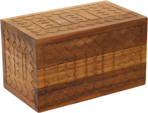 Manada™ Small Carved Teak Storage Box