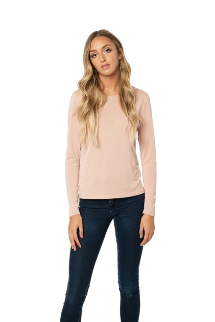 Rose Fitted Long Sleeve Top