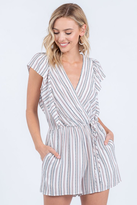 Stripes All Over Romper