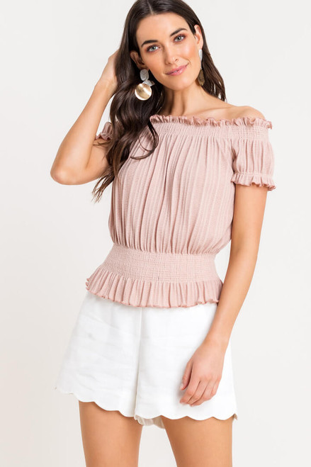 Charlotte Off Shoulder Ruched Top