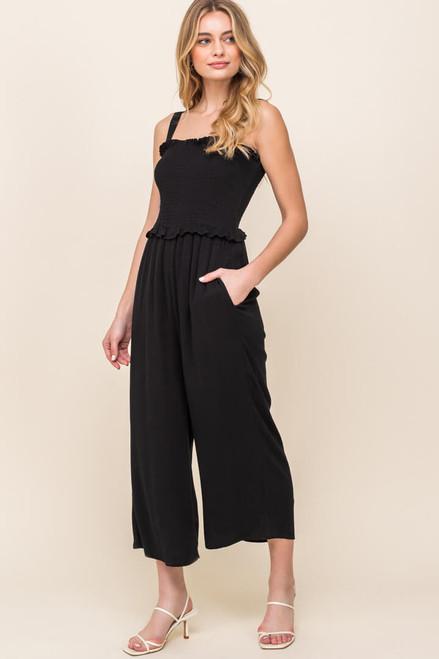 Malibu Smocked Cropped Jumpsuit