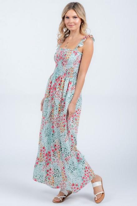 Sarah Smocked Maxi Dress