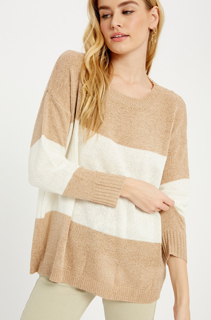Shanon Color Block Sweater Top