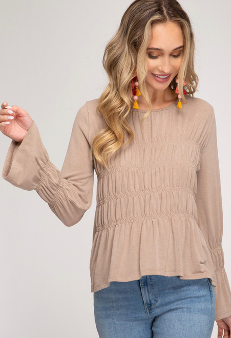 Diana Smocked Knit Top
