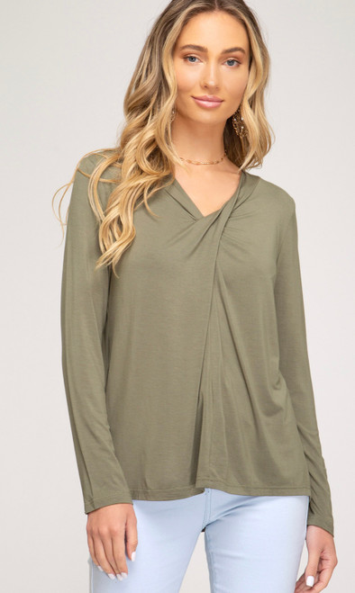Elizabeth Modal Top With Front Twist