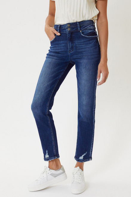 Beverly High Rise Slim Straight Jeans