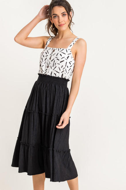 Alison Frill Tiered Midi Skirt