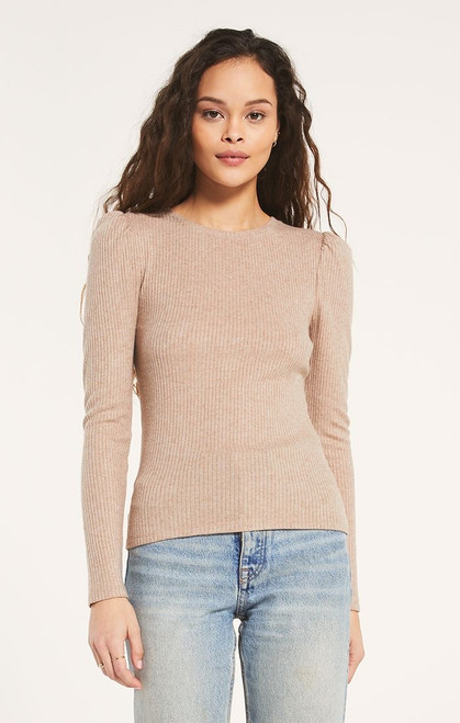 Kaiya Rib Long Sleeve Top