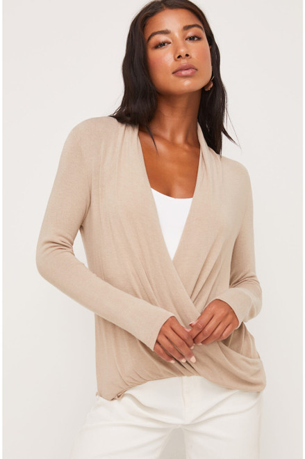 Angelica Front Wrap Top