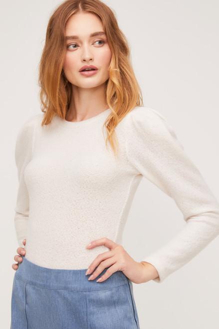 Antoinette Shoulder Pleat Top