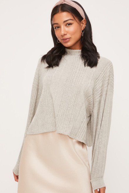 Aurora Mock Neck Top