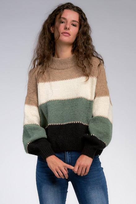 Belle Color Block Sweater