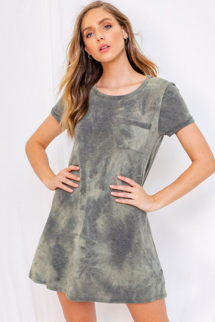 Clemence Tie Dye Shift Dress
