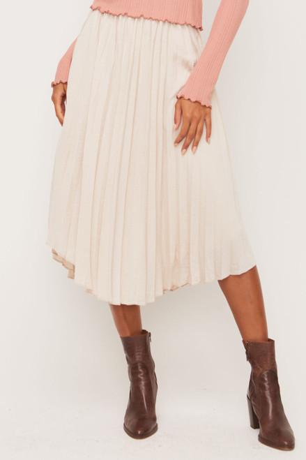 Eloise Midi Pleaded Skirt
