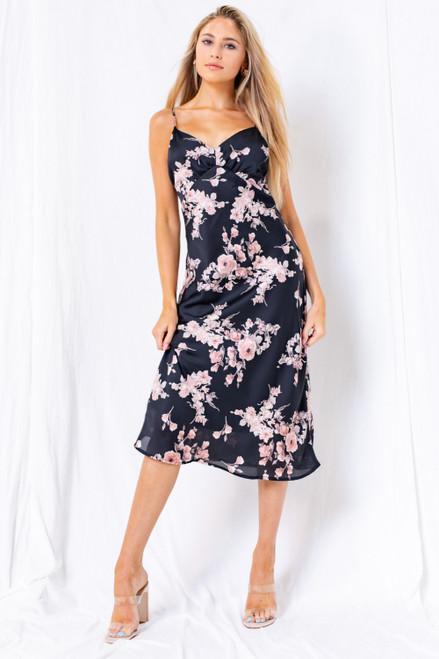 Scarlett Spagetti Strap Floral Dress