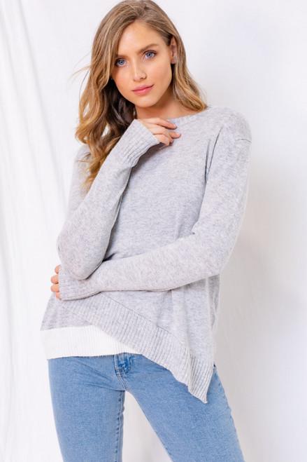 Felicity Asymmetrical Detail Sweater Top