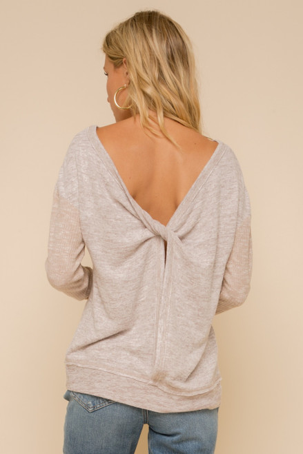 Carrie Twisted Open Back Top