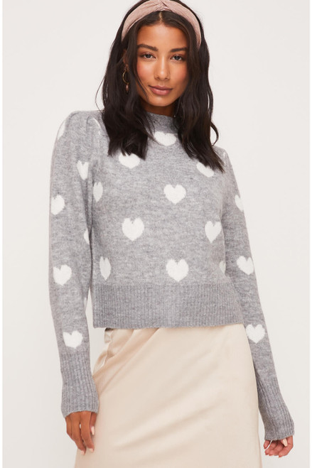 Juliet Furry Heart Sweater