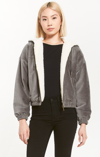 Camille Cord Bomber Jacket