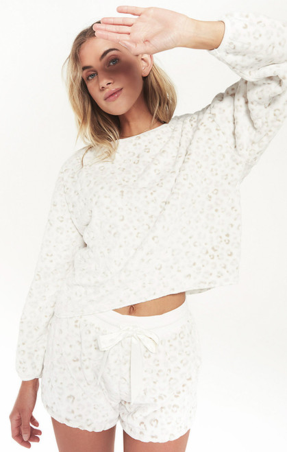 Frosted Plush Leo Top
