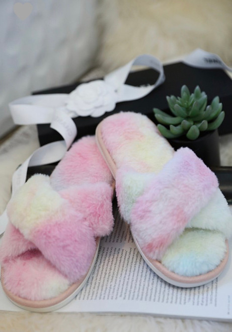 Fuzzy Faux Fur Slippers