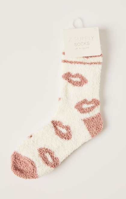 Lips Plush Socks