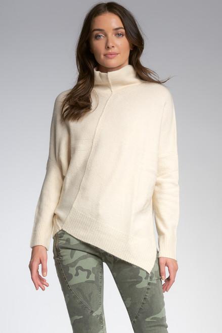 Melanie Asymmetrical Mock Neck Sweater