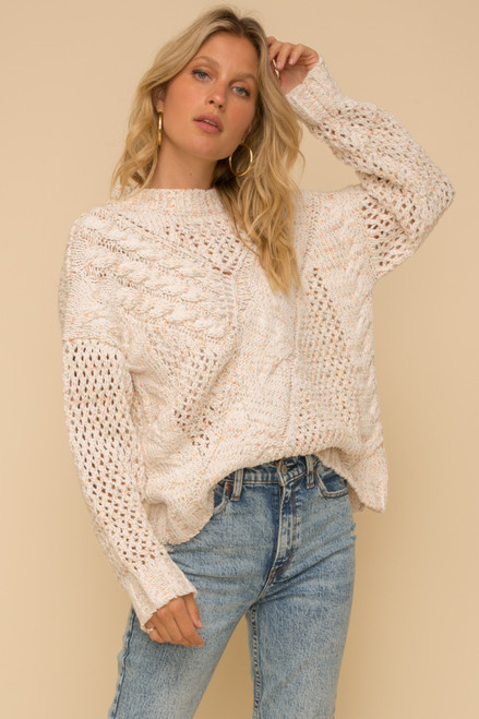 Hold Me Close Cable Knit Sweater
