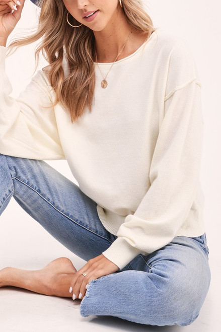 Today Is The Day  Sweater Top, Ivory