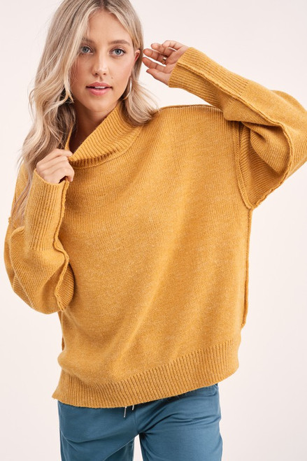 Grace Dolman Sleeve Sweater, Mustard