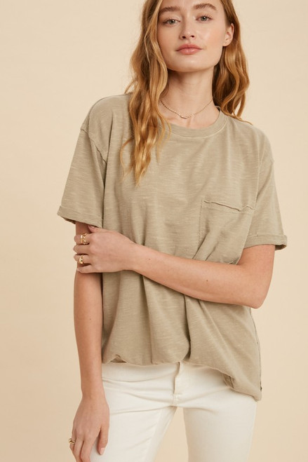 Lera Washed Loose Fit Tee
