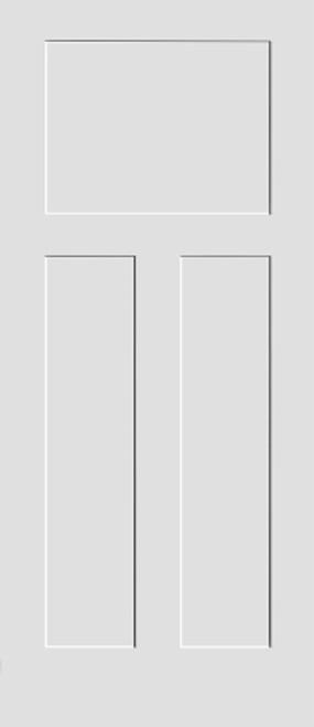 3 Panel (Craftsman) Wood Shaker Door Slab