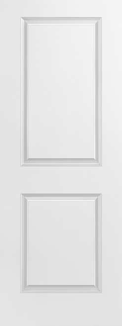 2 Panel Carrara Smooth Moulded Door