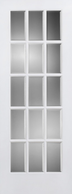 Clear Beveled Glass Woodbar French Door