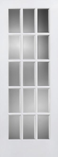 Clear Glass Woodbar French Door