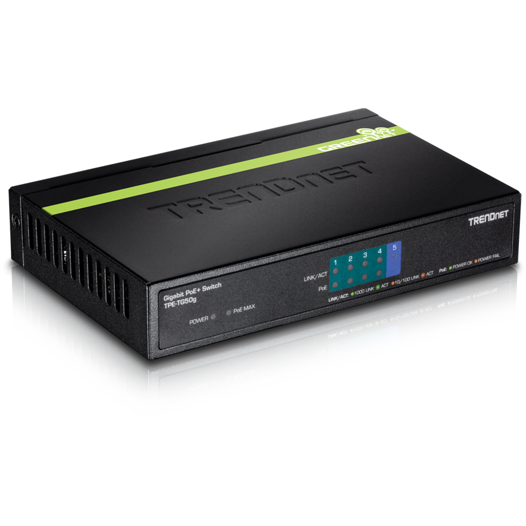 4 Channel Power Over Ethernet Switch